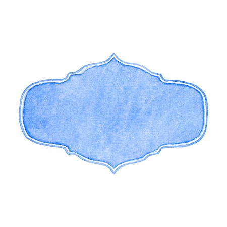 edwardian: Watercolor frame on the white background