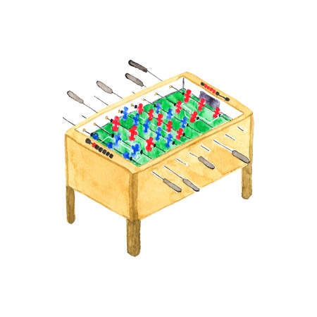 old fashioned: Old fashioned football or kicker table.