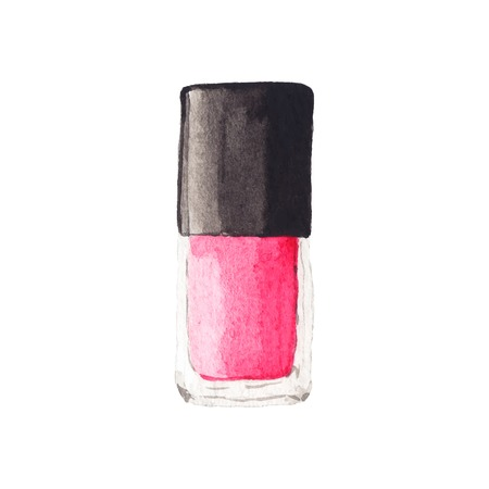 Watercolor nail polish. Illustration