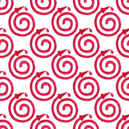 Watercolor seamless pattern with fire hose on the white background Vector