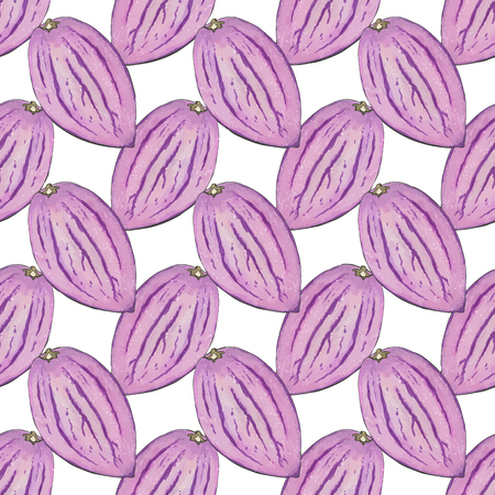 pepino: Pepino melon. Seamless pattern with fruits. Hand-drawn background. Vector illustration. Real watercolor drawing.