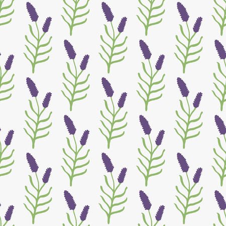 grass weave: Lavender. Seamless pattern with flowers on the white background. Hand-drawn original background. Swatch inside. Vector illustration