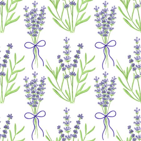 pastel color: Lavender. Seamless pattern with flowers. Hand-drawn original floral background. Real watercolor drawing.