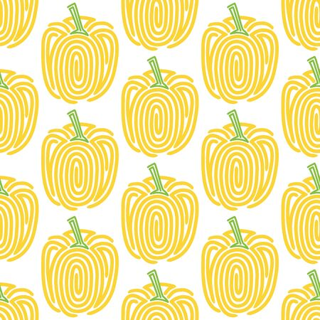 chilly: Bell pepper. Seamless pattern with spiral peppers.