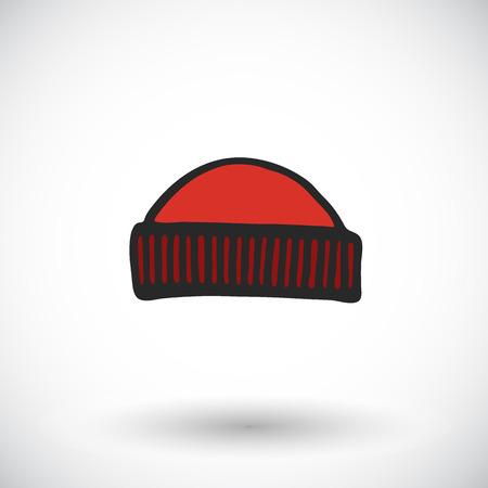 handdrawn: Hat sketch. Hand-drawn cartoon apparel icon. Doodle drawing. Vector illustration. Illustration