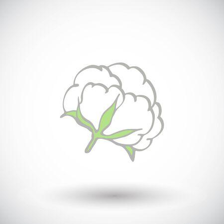 Katoen bloem. Handgetekende biologisch katoen icoon. Doodle tekening. vector illustratie