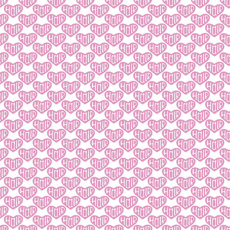 hairstyling: Heart with word Hair inside. Seamless pattern with hand-drawn hairstyling sketch icon. Doodle drawing. Vector illustration - swatch inside