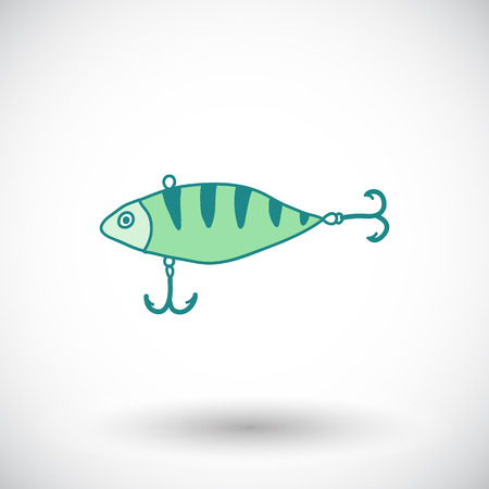 wobbler: Fishing lure sketch. Hand-drawn fishing wobbler icon. Doodle drawing. Vector illustration