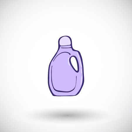 plastic bottles: Plastic bottles of cleaning product. Hand-drawn cartoon householding icon. Doodle drawing. Vector illustration. Illustration