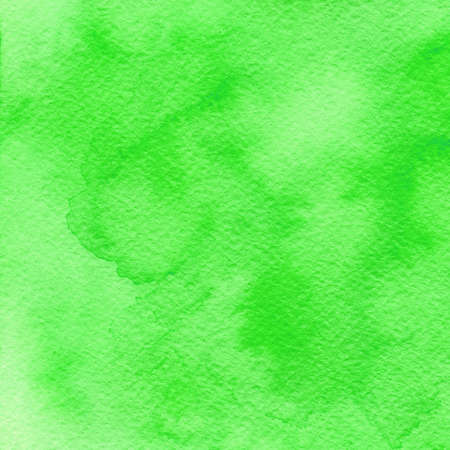 ink and wash: Green watercolor background. Hand-drawn water texture. Hand drawn illustration Stock Photo