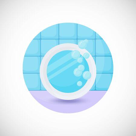 reflection in mirror: Mirror vector flat icon Illustration