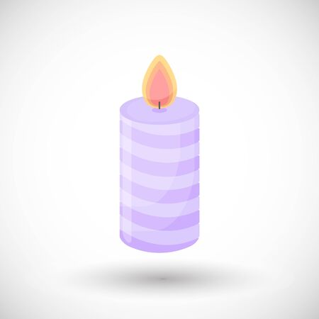 Candle icon Illustration
