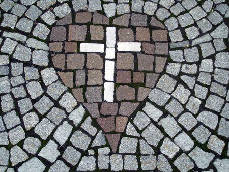 jesus on cross: Cruz en el corazón