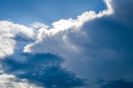 dark clouds on sea