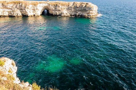 arch in the rock on the coast of Atlesh of the Black Sea