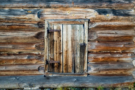 a window in an old rustic house