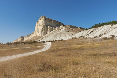 Ak-Kaya White rock on the Crimean peninsula.