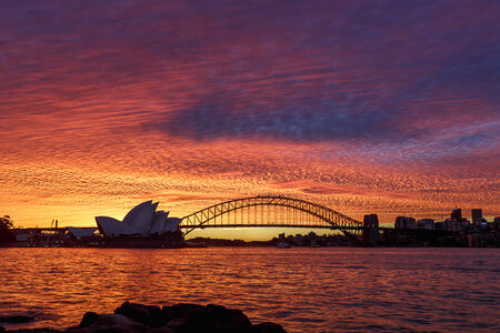 Sunset in Sydney Harbour, Australia