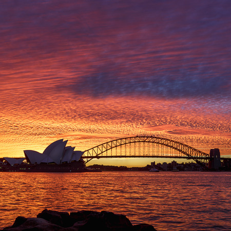 Sydney Sunset in Sydney Harbour, Australia
