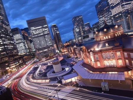 Tokyo Station at rush hour  photo