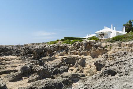 menorca: Isolated white villa, Menorca, Spain
