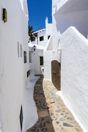 menorca: Binibeca alley white village, Menorca, Spain
