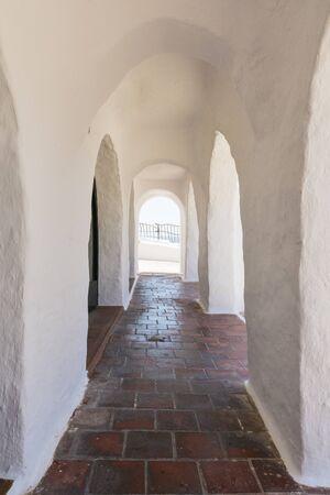 menorca: Arcades of a fishing village, Menorca, Spain