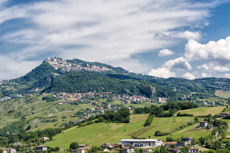 rimini: Village on a hill, Rimini, Italy Stock Photo