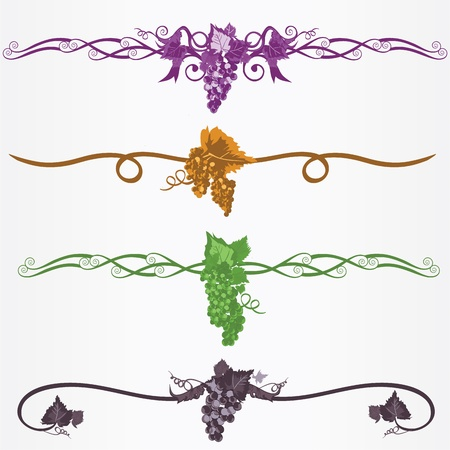 winogron ramka ruleline Ilustracja