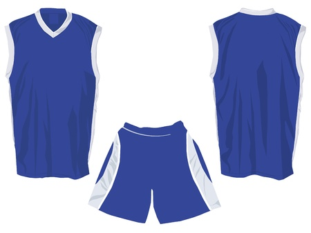 Tank top template for sports in separate layers for easy editing