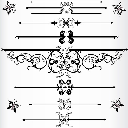 victorian scroll Stock Vector - 11214649