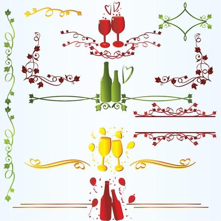 クリスマスや新年のお祝いのための Ruleline  イラスト・ベクター素材