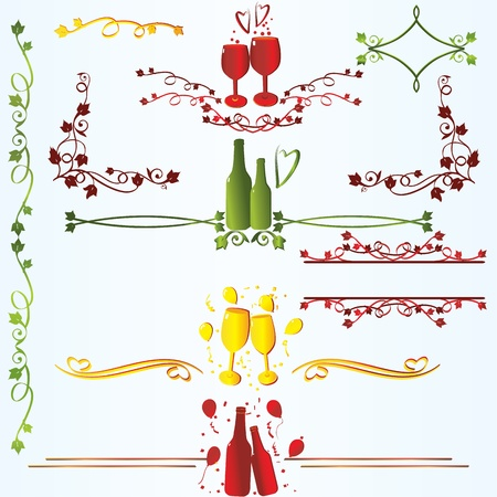 Ruleline  for xmas or new year celebration Vector