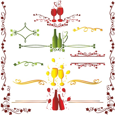 Ruleline ivy for xmas new year celebration Vector