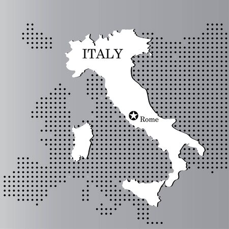 Italy map with Europe Stock Vector - 11648243