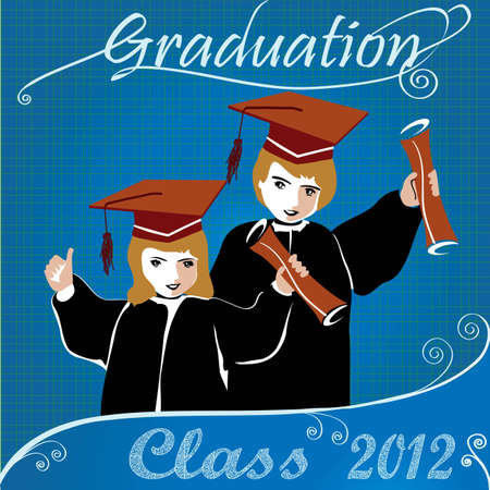 Graduation class2012 invitation Vector