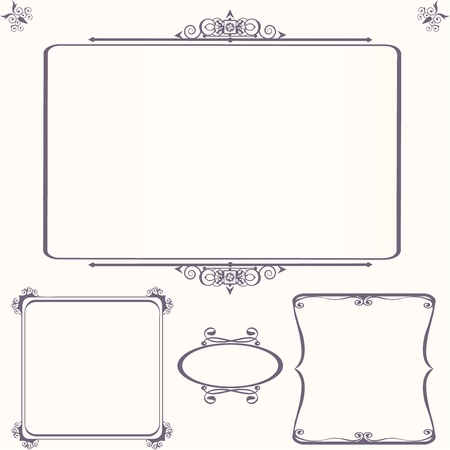 Ornate vintage frame set