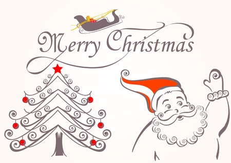 christmas elements: Merry christmas elements Illustration