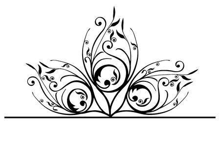 Ornate peacock feathers Illustration