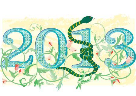 Nowy rok 2013 Ilustracja