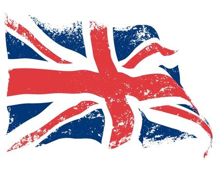 bandera inglaterra: Grunge bandera británica Vectores