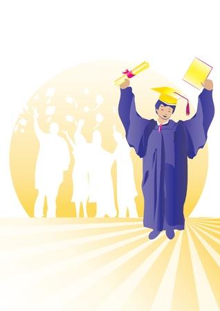 Graduate with certificate