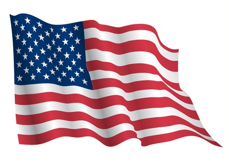 patriotic border: USA flag