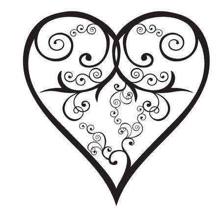 wedding couple silhouette: Heart valentine