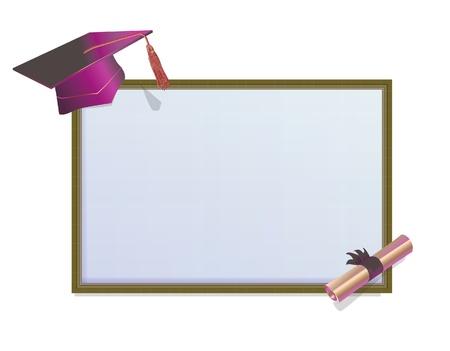 Karta zaproszenie Graduation z zapraw