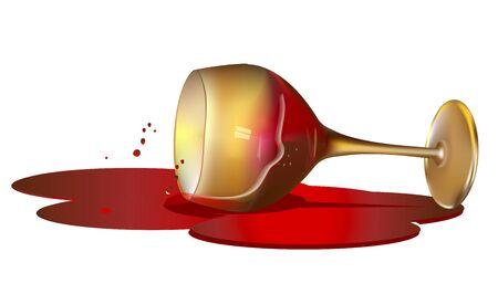 Wine spilled