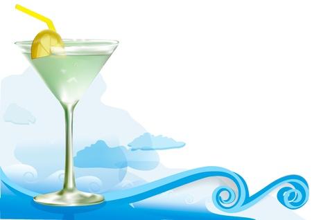 Green alcohol cocktail 版權商用圖片 - 19531975