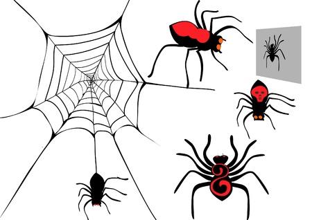 Spider set. Stock Vector - 21649785