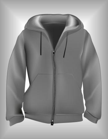 Hoodie sweatshirt template Illustration