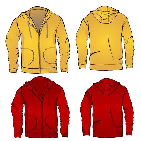 Hoodie sweatshirt template Ilustração